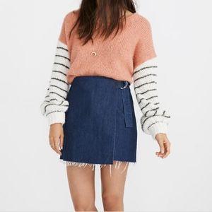 NWT - Madewell Raw Hem Denim Wrap Skirt